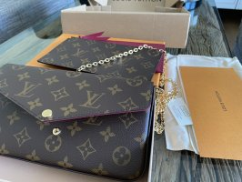 Louis Vuitton Clutch black brown-bronze-colored