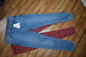 Poformende Mid-Rise Skinny Jeans 40 Boohoo neu