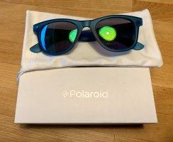 Polaroid Lunettes de soleil angulaires vert foncé