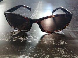 Police Owalne okulary przeciwsłoneczne jasnobrązowy-ciemnobrązowy