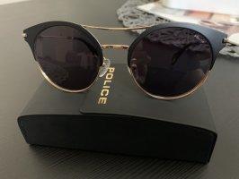 Police Owalne okulary przeciwsłoneczne czarny-złoto