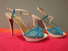 Pollini Designer High Heels Sandalette Leder Größe 39 NEU