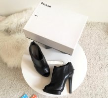 Pollini High Heel Peep Toe Boots schwarz