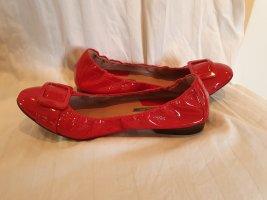 Pollini Patent Leather Ballerinas raspberry-red