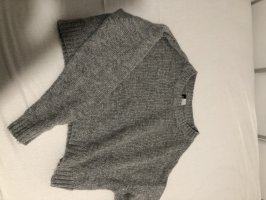 H&D Collection Pullover all'uncinetto grigio