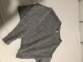 H&D Collection Szydełkowany sweter szary