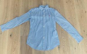 POLO Ralph Lauren Bluse blau weiß gestreift Gr. 38