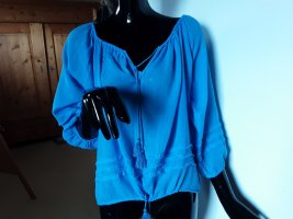 Polo Ralph Lauren,  kornblumenblaue Bluse,Gr. S/M
