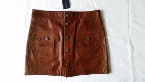 Polo Ralph Lauren, Mini-Rock, Leder, braun, 34 (US 4), neu, € 600,-