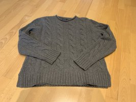 Polo Ralph Lauren Cable Sweater dark grey merino wool