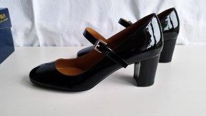 Polo Ralph Lauren, Slingback-Pumps, Lackleder, schwarz, EU 38, neu, € 450,-