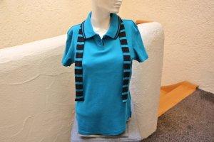 #Polo-Shirt mit Schal, Gr. 40/42, #petrol, #Flashlights, #hochwertig, #Markenmode