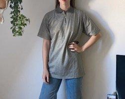Camisa de manga corta gris-blanco