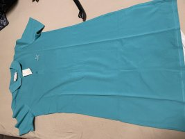 Helena Vera Polo Dress neon blue cotton