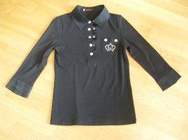 Poloshirt, Fa. Gläser, Gr.36, schwarz, elegant, Krone