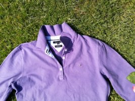Poloshirts halbarm lila Tommy Hilfiger