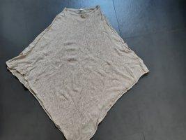 Pieces Poncho in maglia bianco sporco Viscosa