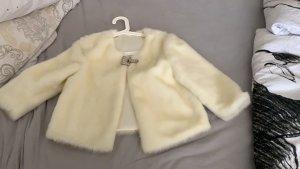 Manteau en fausse fourrure blanc cassé