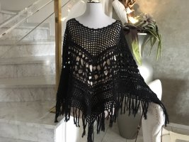 Twin set Knitted Poncho black