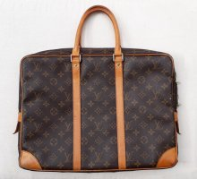 Louis Vuitton Briefcase dark brown leather