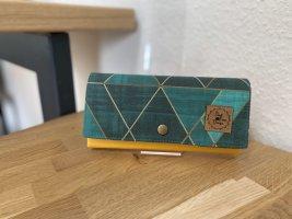Portemonnaie Geldbörse Geldbeutel Grün gelb Handmade
