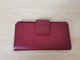 Portemonnaie Geldbörse Leder Damen Rot