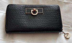 DKNY Portefeuille noir-doré cuir