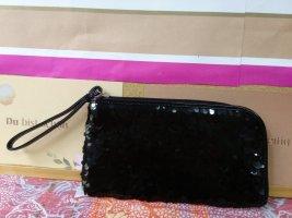 Portemonnaie mit schwarzen Pailletten - neu!