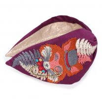 PoWdEr Headband - Mister Fox - Purple/Colour - Bestickt!