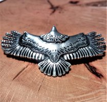 Hair Pin silver-colored-black metal