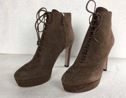 Prada, Ankle Boots, Braun, Suede, 39,5, neu, € 900,-