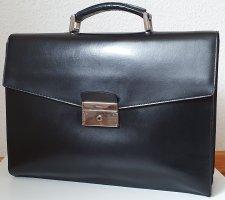 Prada Arbeitstasche Aktentasche aus schwarzem Leder