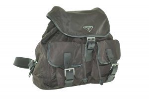 Prada Backpack green cotton