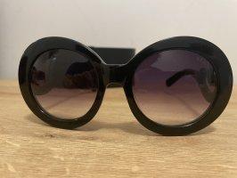Prada Occhiale da sole rotondo nero