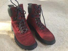 Prada Boots Gr.39,5  dunkles rot/grau