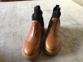 Prada Chelsea Boot bronze-noir cuir