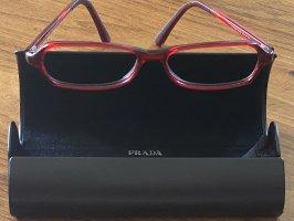 Prada Okulary ciemnoczerwony