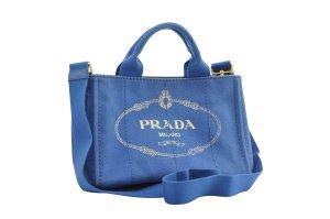 Prada Handbag blue textile fiber