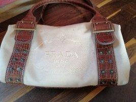 Prada  Canapa Handtasche mit großem Logo - Statement Piece