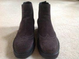 Prada Chelsea Boots dark brown suede