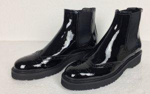 Prada, Chelsea-Boots, Schwarz, Lackleder, 40, neu, € 750,-