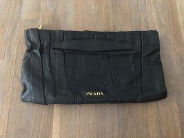 PRADA Clutch schwarz Leder