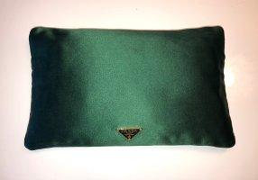 Prada Clutch Tasche Satin Grün
