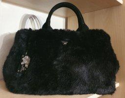 PRADA - Damen Handtasche - Fell - schwarz - Luxus - TOP