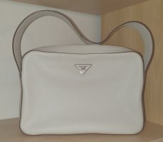 PRADA - Damen Handtasche - Sacca Vitallo Daino - weiß (talco)