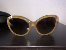 Prada Occhiale da sole ovale bronzo-sabbia