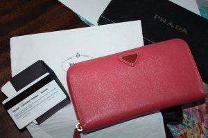 Prada Geldbeutel Portemonee Brieftasche Clutch Peonia Box, ID wie neu