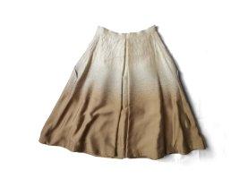 Prada Falda circular color oro-blanco puro Seda