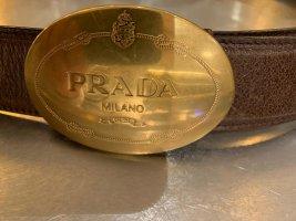 Prada Ceinture en cuir bronze