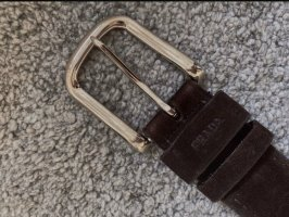 Prada Leather Belt dark brown-black brown leather